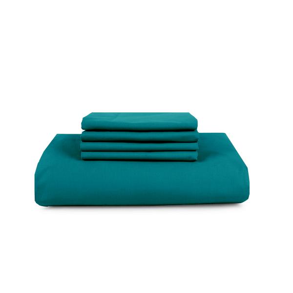 beddengoed smaragd groen